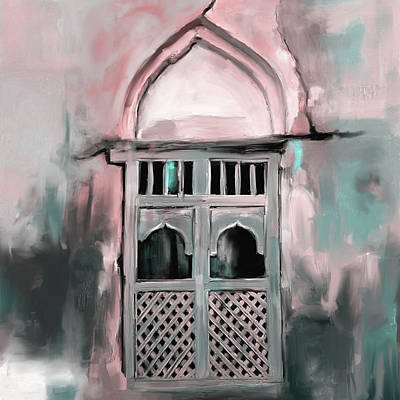 Dome Painting - Ancient Window 677 2 by Mawra Tahreem