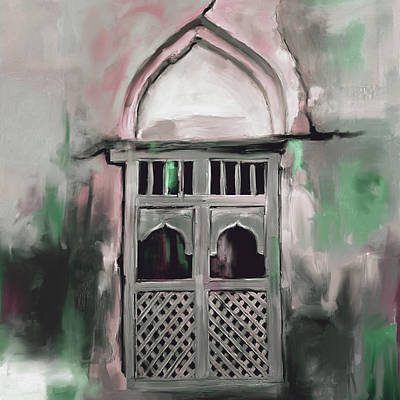 Dome Painting - Ancient Window 677 3 by Mawra Tahreem