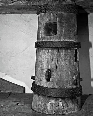 Photograph - Ancient Wine Press Column by Richard Hinds