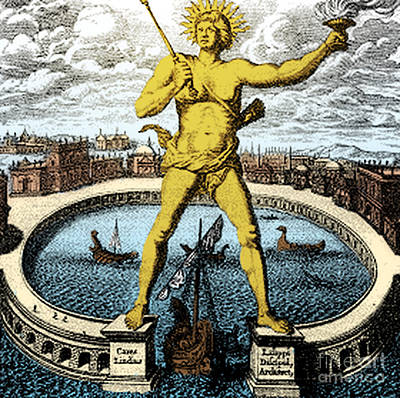 Helios Photograph - Ancient Wonder Of The World, Colossus by Science Source