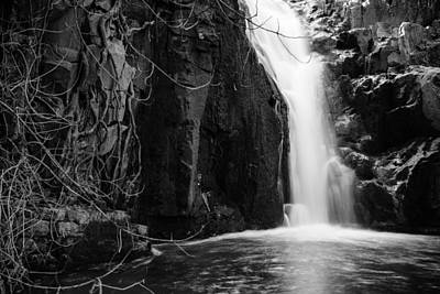 Photograph - Ancos Waterfall Bw by Marco Oliveira