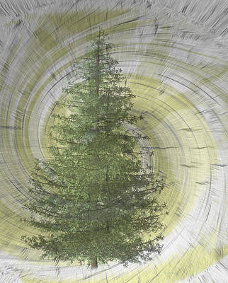 Digital Art - And A Tree Grows by Cathy Harper