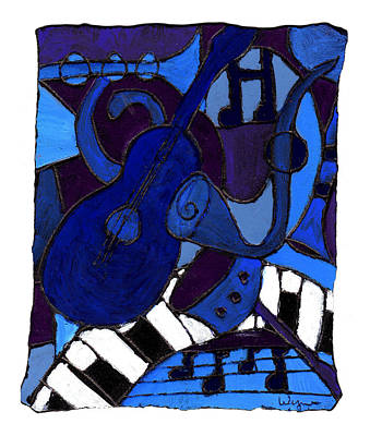 Painting - and All that Jazz one by Wayne Potrafka