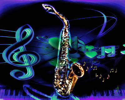 Digital Art - And All That Jazz by Pennie McCracken