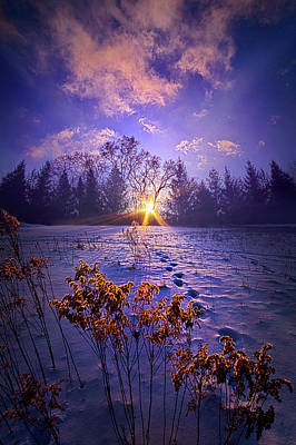 Print featuring the photograph And Back Again by Phil Koch