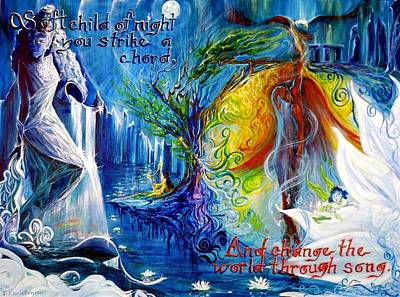 Eagle Cliff Painting - And Change The World Through Song... by Jennifer Christenson