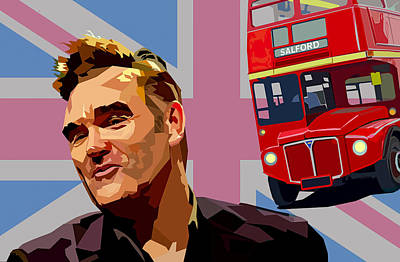 Double Decker Digital Art - And If A Double Decker Bus by Mal Bray