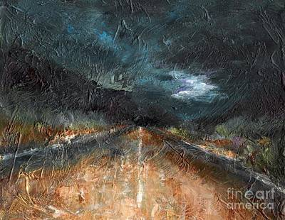 Abstact Landscapes Painting - And Life Goes On by Frances Marino