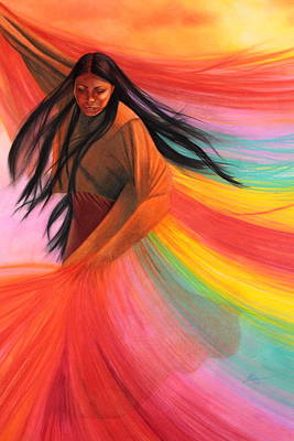 And So We Dance Art Print by Maria Hathaway Spencer