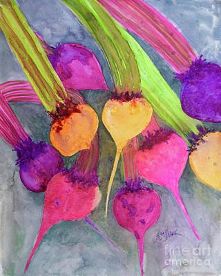 Painting - And The Beet Goes On by Barrie Stark