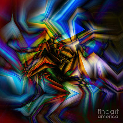 Burnt Digital Art - ...and The Colors Danced by Chellie Bock