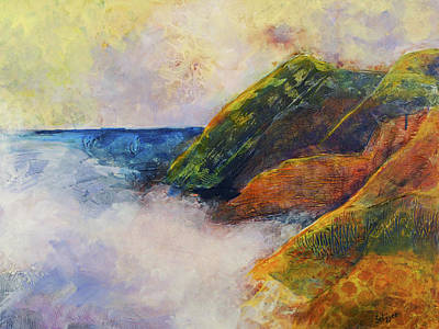 Painting - And The Fog Rolls In by Kathie Selinger