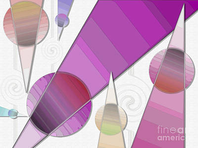 Spirals Digital Art - And The Point Is... by Sue Gardiner