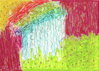 Painting - And The Rain Came by Susan Schanerman