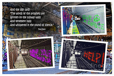 Photograph - And The Words Of The Prophets Are Written On The Subway Walls by Jim Fitzpatrick