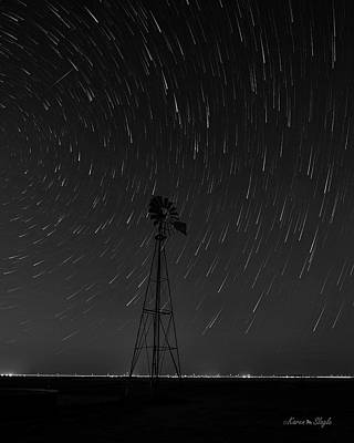 Photograph - And The Stars Rained Down Black And White by Karen Slagle