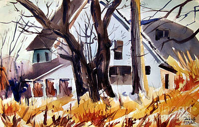 Indiana Landscapes Painting - And The Sun Came Out by Charlie Spear