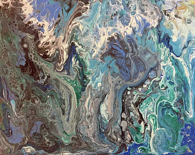 Painting - And The Waters Swirled 2 by Deborah Younglao