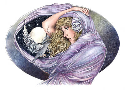 Stevie Nicks Drawing - And The Wind Became Crazy by Johanna Pieterman