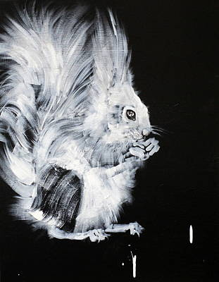 Painting - And The World Goes On #squirrel by Fabrizio Cassetta