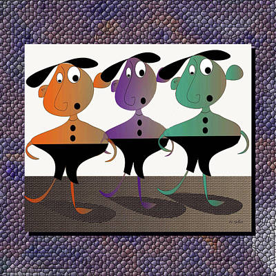 Digital Art - And Then There Were Three by Iris Gelbart