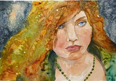 Art Print featuring the painting And They Called Her Paisley by P Maure Bausch