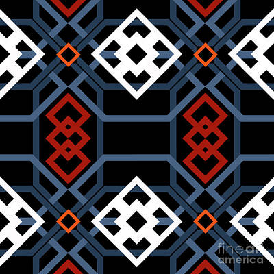 Moorish Digital Art - Andalucian Geometric by Andrew Watson