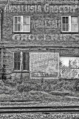 Photograph - Andalusia Grocery Black And White by JC Findley