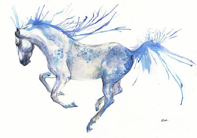 Painting - Andalusian Horse 2017 07 18 by Angel Tarantella