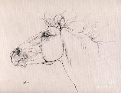 Andalusian Horse Drawing - Andalusian Horse Drawing 2015 12 0a3 by Angel Tarantella