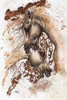 Andalusian Horse Drawing - Andalusian Horses 2015 09 11 by Angel  Tarantella