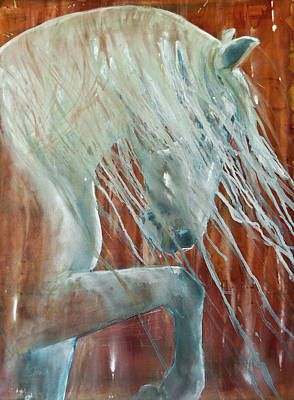 Horse Images Painting - Andalusian Stallion Less Blue by Jani Freimann