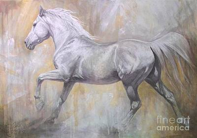 Running Horse Painting - Andante by Silvana Gabudean Dobre