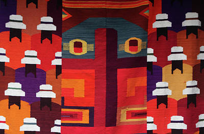Tapestries Textiles Photograph - Andean Colourful Patterns by Aidan Moran