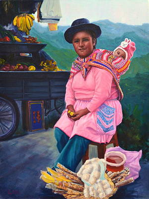 Painting - Andean Mama by Ningning Li