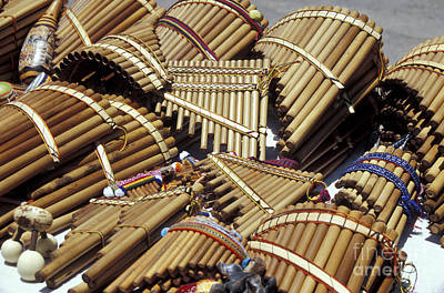 Photograph - Andean Panpipes Ecuador by John  Mitchell