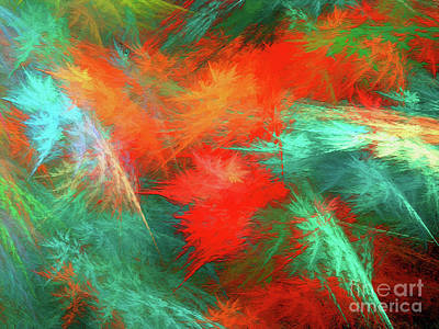 Digital Art - Andee Design Abstract 100 2017 by Andee Design