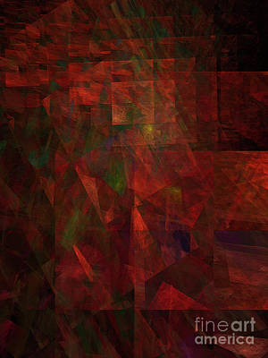 Digital Art - Andee Design Abstract 135 2017 by Andee Design