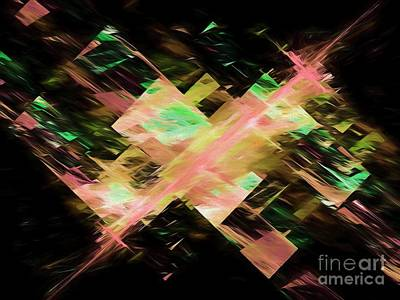 Art Print featuring the digital art Andee Design Abstract 87 2017 by Andee Design