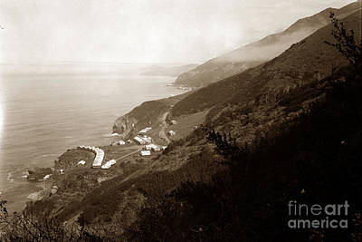 Photograph - Anderson Creek Labor Camp Big Sur April 3 1931 by California Views Mr Pat Hathaway Archives
