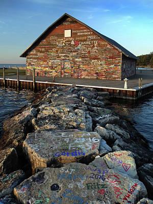 Photograph - Anderson Dock Graffiti by David T Wilkinson