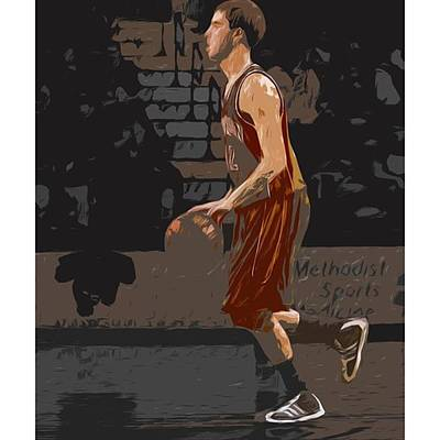 Sports Photograph - @andersonuniversity #indiana #painting by David Haskett
