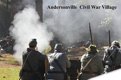 Photograph - Andersonville Civil War Village by Jerry Battle