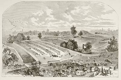 Andersonville Prison, Officially Known Art Print by Vintage Design Pics