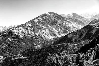 Photograph - Andes Peak In Chile by John Rizzuto