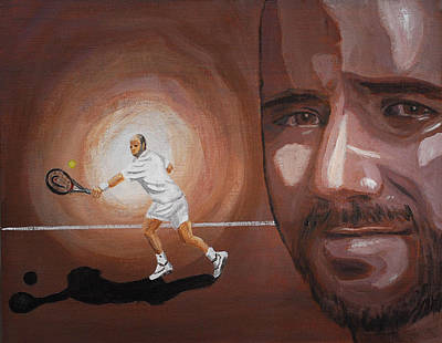 Painting - Andre Agassi by Quwatha Valentine