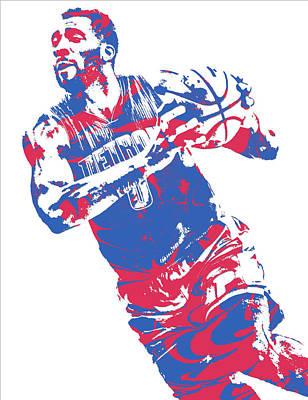 Basketball Mixed Media - Andre Drummond Detroit Pistons Pixel Art 9 by Joe Hamilton