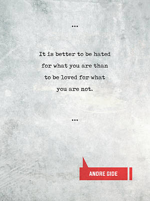 Mixed Media - Andre Gide Quotes 1 - Literary Quotes - Book Lover Gifts - Typewriter Quotes by Studio Grafiikka