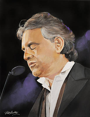Painting - Andrea Bocelli by Bill Dunkley