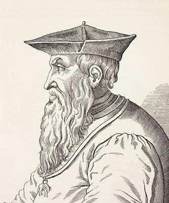 Genoa Drawing - Andrea Doria, 1466-1560. Italian by Vintage Design Pics